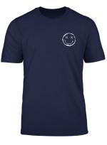 X Smiley Auf Brust Mit Trippy Glitch Backprint Edm House T Shirt