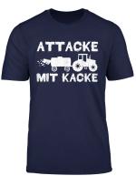 Traktor Traktorfahrer Attacke Mit Kacke Landwirt Bauer T Shirt