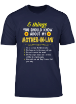 5 Things You Should Know About My Mother In Law Sunflower T Shirt