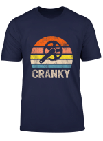 Cranky Vintage Sun Funny Bicycle Lovers Cycling Cranky T Shirt