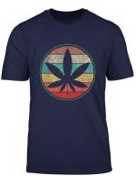 Weed Vintage T Shirt Marijuana Cannabis Leaf Retro Tshirt