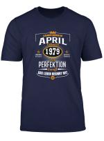 April Geburtstag Perfektion 1979 40 Jahre Lustig Geschenk