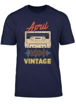 Vintage April 1980 Retro Mixtape 39Th Birthday T Shirt