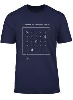 Nethack Roguelike Ascii Yasd Ironic Funny Gaming T Shirt
