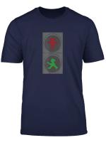 Ampelmannchen Strassensignal T Shirt