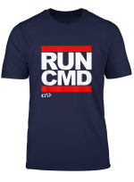 Run Cmd Nerd Terminal Programmer Hacker Computer Scientist T Shirt