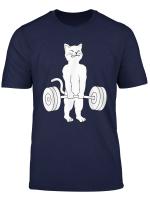 Cat Deadlift T Shirt Powerlifting Kitty Tee Shirt