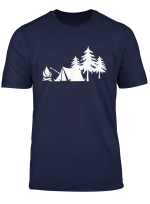Camping Camp Camper Nature Forest Campfire Tent T Shirt
