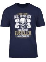 Zusteller Lacheln Brieftrager Postbote Paketpostbote T Shirt