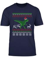 Witzig Dinosaurier Weihnachten T Shirt Dino Nikolaus Mutze