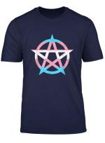 Transgender Flag Pentagram Trans Rights Lgbt Gay Witch Pride T Shirt