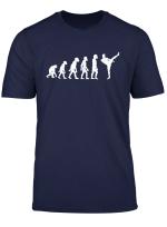 Funny Human Kickboxing Evolution Karate Mma Kickboxer T Shirt