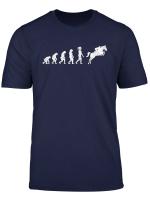 Evolution Reiter Pferde Reiten Reitsport Geschenk Pferd T Shirt