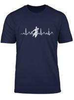 Handballspieler Geschenkidee Ekg Herzschlag Handball T Shirt