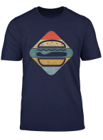 Retro Vintage Burger Lustiges Und Stylisches Design T Shirt