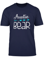 Womens Auntie Bear Tee Funny Gift For Girl Women Aunt T Shirt