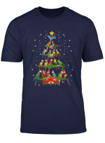 Santa Hat Parrot Christmas Tree The Funny Xmas Gift T Shirt