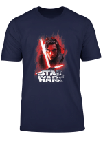 Star Wars The Last Jedi Kylo Ren Shattered Portrait T Shirt