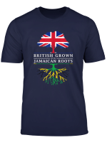 British Grown With Jamaican Roots T Shirt Jamaica Shirt