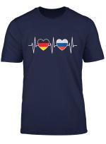 Deutschland Russland Russisch Flaggen Flagge Tshirt T Shirt T Shirt