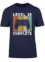 Herren 25 Geburtstag Manner Shirt Gamer Tshirt Level 25 Complete T Shirt