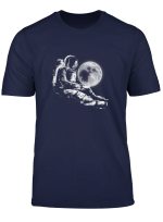 Astronaut Holding The Moon Spaceman Cosmic Space T Shirt