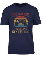Level 13 Unlocked Made In 2007 13Th Birthday Gamer Kid T Shirt
