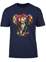 Elephants Mom Art Color Squares Gift Mother S Day T Shirt