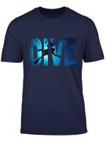 Geratetauchen Tauchen Taucher Schatten Tief Schwim T Shirt