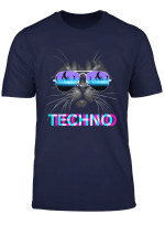 Cat Techno Dj Electro Music T Shirt T Shirt