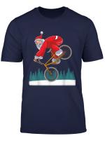 Bmx Santa Claus Freestyle Trick Retro Christmas Gift T Shirt