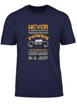 Jeep Therapie Jeepfahrer Jeepaholiker Autofahrer Geschenk T Shirt