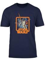 Star Wars Classic A New Hope Movie Badge Graphic T Shirt