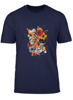 Tiger And Skull Flowers Design Gift Unisex Men Women T Shirt