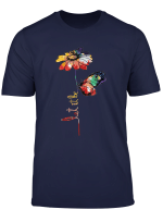 Let It Be Awesome T Shirt Flower And Butterfly