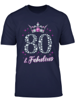 Womens 80 And Fabulous 1939 80Th Birthday Gift T Shirt