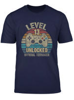 Official Teenager 13Th Birthday Level 13 Unlocked Vintage T Shirt