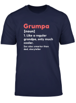 Mens Grumpa Definition Funny Grandpa Grandfather Novelty Gift T Shirt