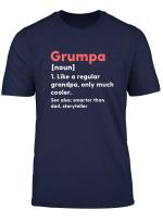 Mens Grumpa Definition Funny Grandpa Grandfather Novelty Gift T Shirt