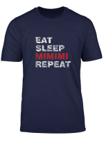 Eat Sleep Mimimi Repeat T Shirt Ideal Fur Manner Frauen