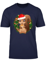 Santa Squirrel Christmas T Shirt