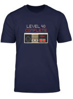 Retro Videospiele 40 Level 40 Complete Funny T Shirt