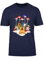 Guitar Santa Hat Christmas Tree Funny Music Loves Xmas Gift T Shirt