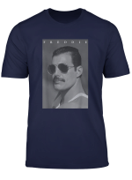 Freddie Mercury Official B W Shades Photo T Shirt