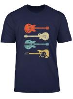 Vintage Electric Guitars T Shirt Distressed Men Women Kids T Shirt