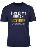 This Is My Human Costume Llama Halloween Funny T Shirt