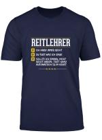 Geschenk Reitlehrer Lustiges Reitschule Reiter Pferd T Shirt