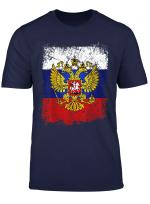 Russland T Shirt Mit Flagge Fahne Und Adler Wappen Russia
