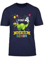 Kinder 4 Jahre Geburtstag Dinosaurier Jungen Madchen Dino T Shirt