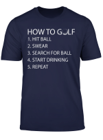 How To Golf Funny Tshirt Birthday Gift